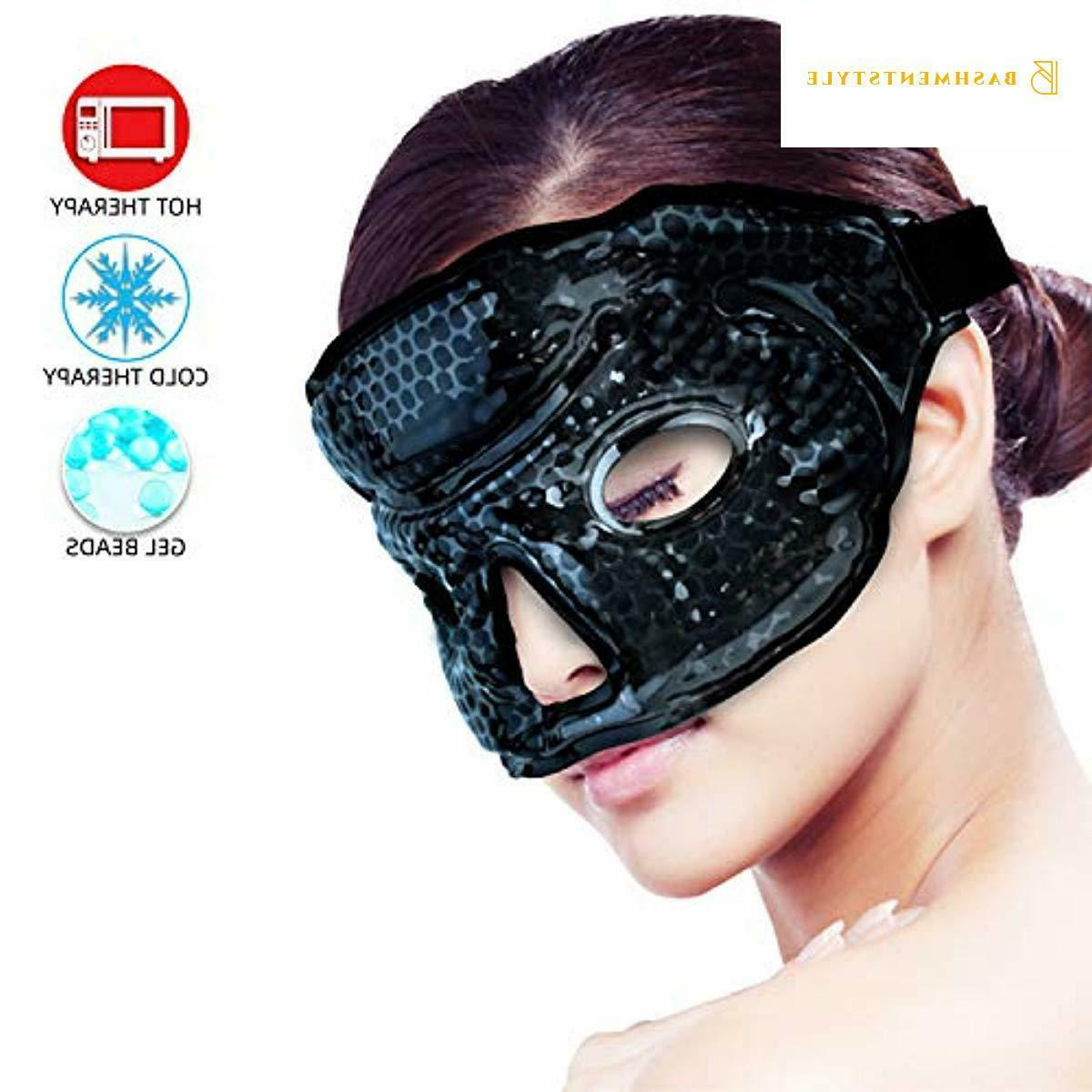 Ice Mask Woman Man, Hot/Cold Gel Beads with