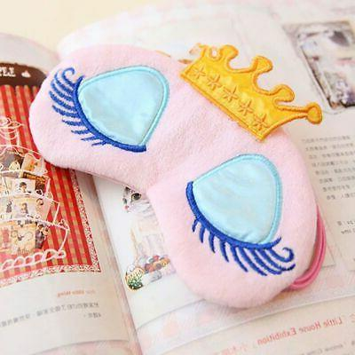 Boy Girl Kids Cute Cartoon Blindfold Eye Mask Travel Sleep A