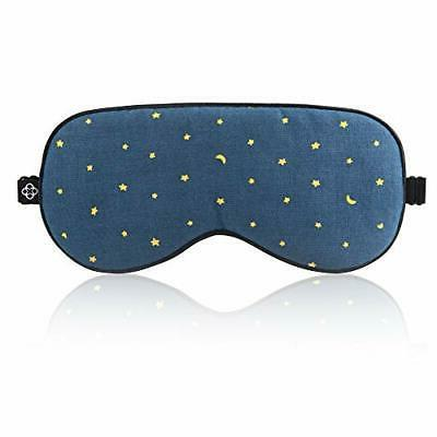 Lonfrote Sleep Mask Silk Eye Masks Sleeping Blindfold Adjust