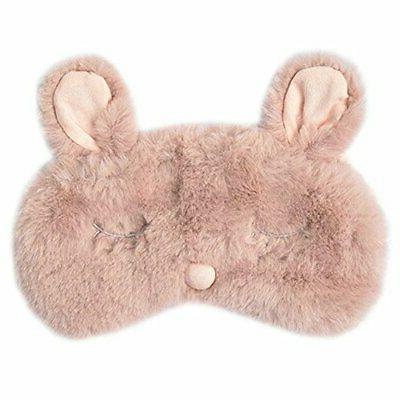 new fashion plush rabbit eye mask cute