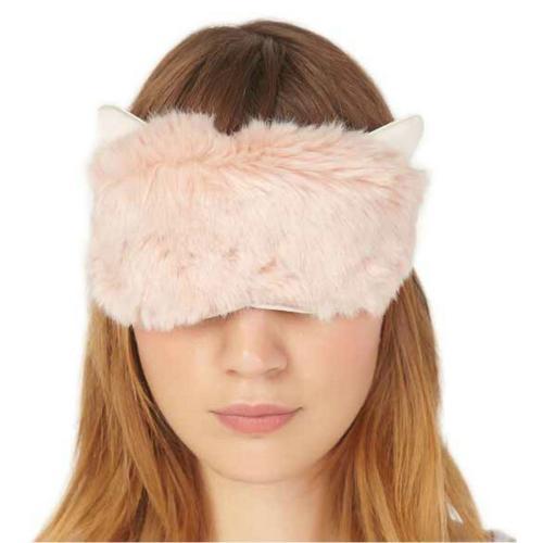 new faux fur patch eye mask eyeshade