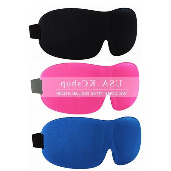 new unisex 3d soft eye travel sleep