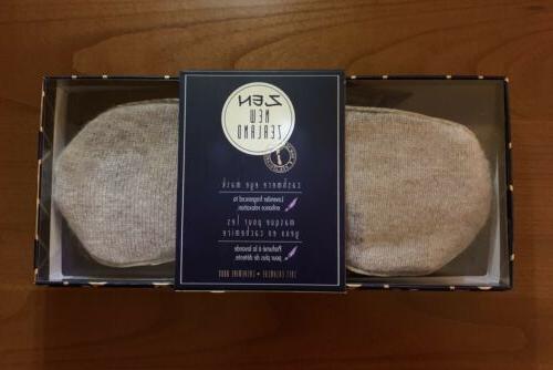 new zealand 100 percent cashmere eye mask