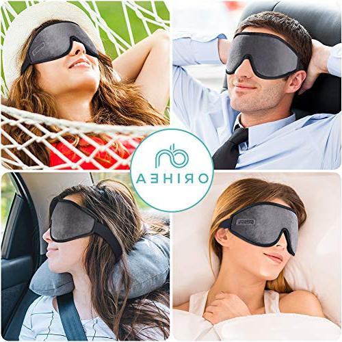 OriHea Eye Mask Sleeping,3D Mask Men Women,Block Light 100% Cover,Adjustable Blindfild,