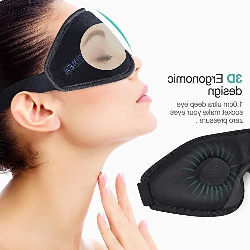 OriHea Eye Mask Sleeping,3D Mask Women,Block Light 100% Cover,Adjustable Premuim Silk