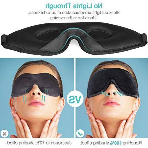 OriHea Eye Mask for Sleeping,3D Mask Light 100% Cover,Adjustable Premuim Blindfild,