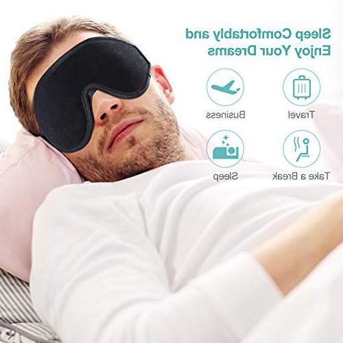 OriHea Eye Mask Sleeping,3D Comfort Mask Light Cover,Adjustable Blindfild,