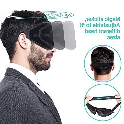OriHea Eye Mask for Sleeping,3D Mask Men Women,Block Light 100% Cover,Adjustable Premuim Blindfild,