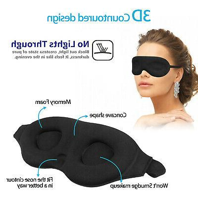 Travel 3D Memory Foam Shade Relax Blindfold Plugs