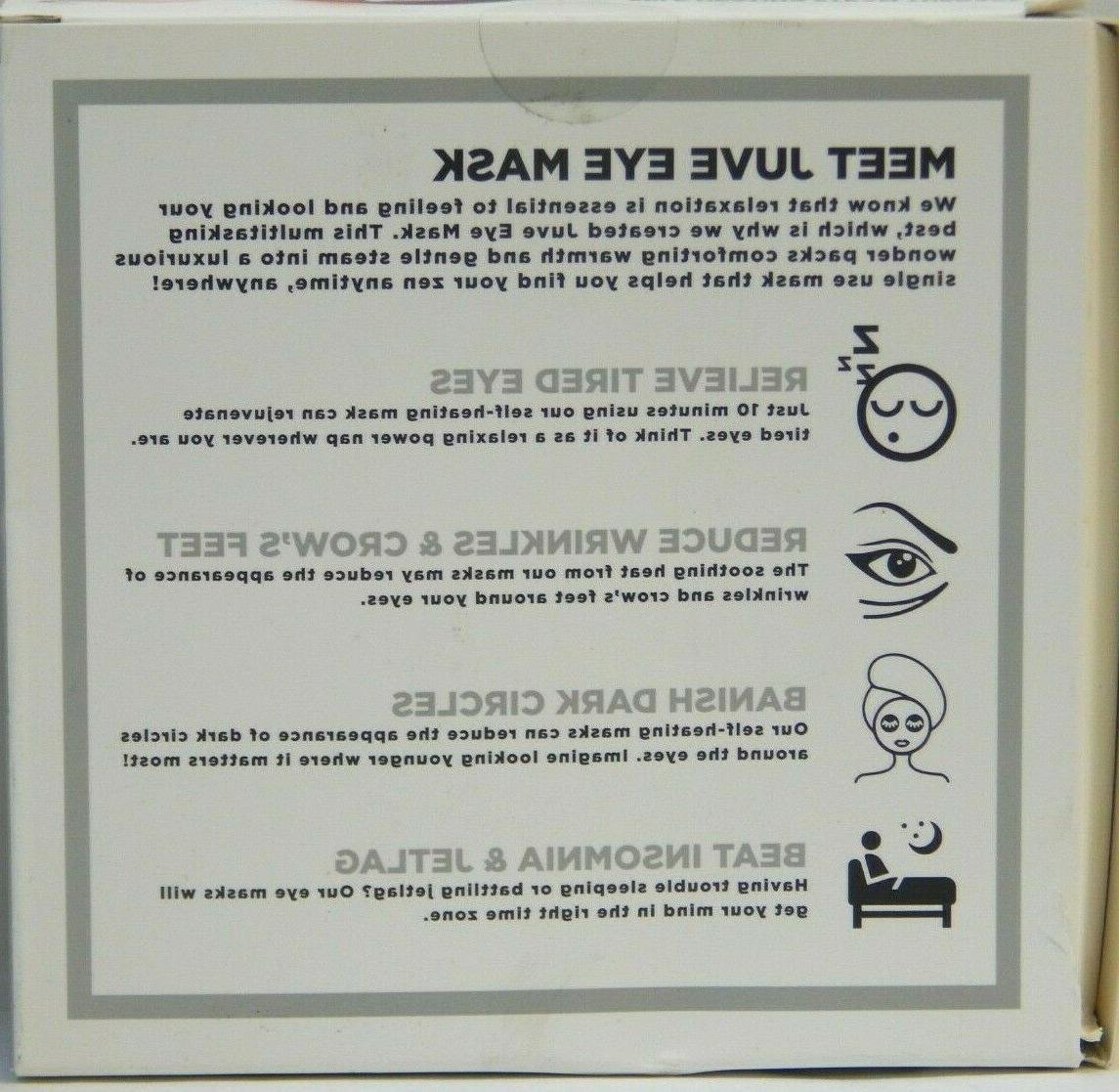 Juve Heating Aromatherapy Eye Mask Pack New