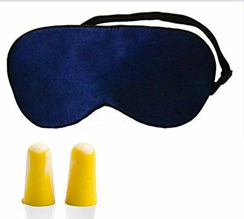 Silk Mask, Sleeping Aid & Light, Navy Blue, US Seller