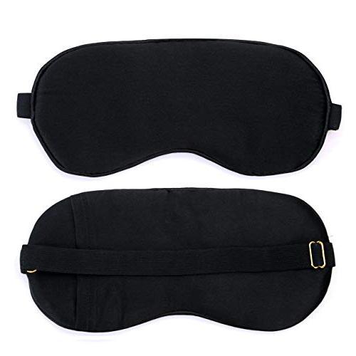 Silk Black Sleeping Mask with Gel Puffy Massage.