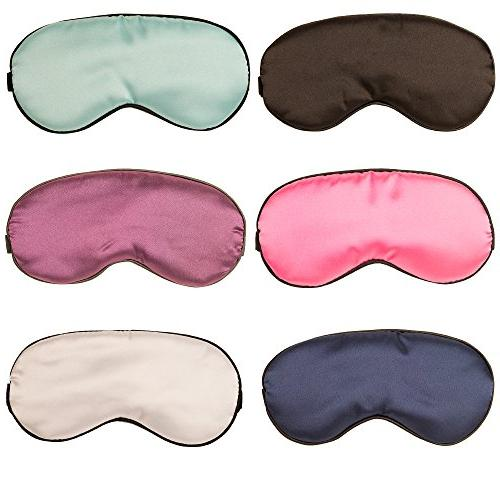Silk with Pouch and Strap Insomnia for Men, Women, Kids, Travel, Puffy Eyes Dark Circles,