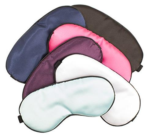 Silk with Gel Insert, Matching Pouch Adjustable Strap Moon, Insomnia Blindfold Women, Boys, Girls, Kids, Travel, Puffy Dark Circles,