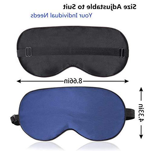 Sleep Sleep Mask Mask for Sleeping 100% Silk Eye Cover, Smooth Blindfold Adjustable Men, Travel, & Blue