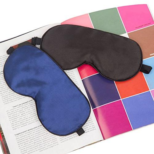 Sleep Mask, ZGGCD Sleep for Pack, 100% Natural Mulberry Silk Eye Shade Cover, Smooth Adjustable Men, Travel, Nap, & Blue