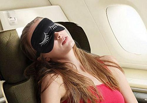 Fitglam Silk Sleep Mask Eye Mask with Eyelashes Free With Eyelashes