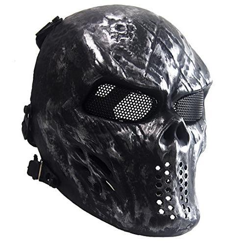 skull skeleton face airsoft mask