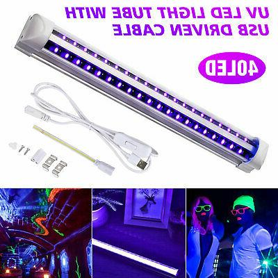 40 LED UV Black Light Fixtures UV Light Bar LED Strip Party