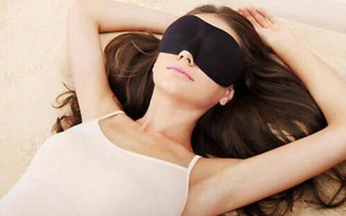 3D Sleep Mask Eye Cover Padded Blocking Night Blindfold Light