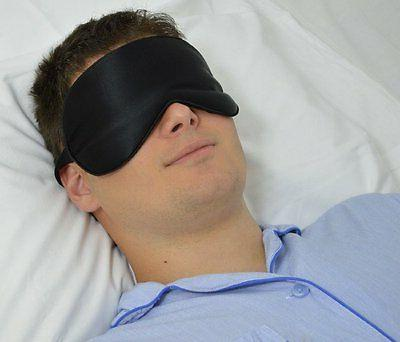 Sleep Eye Silk Blindfold Relaxer Hotel Travel Plane Accessories Gift