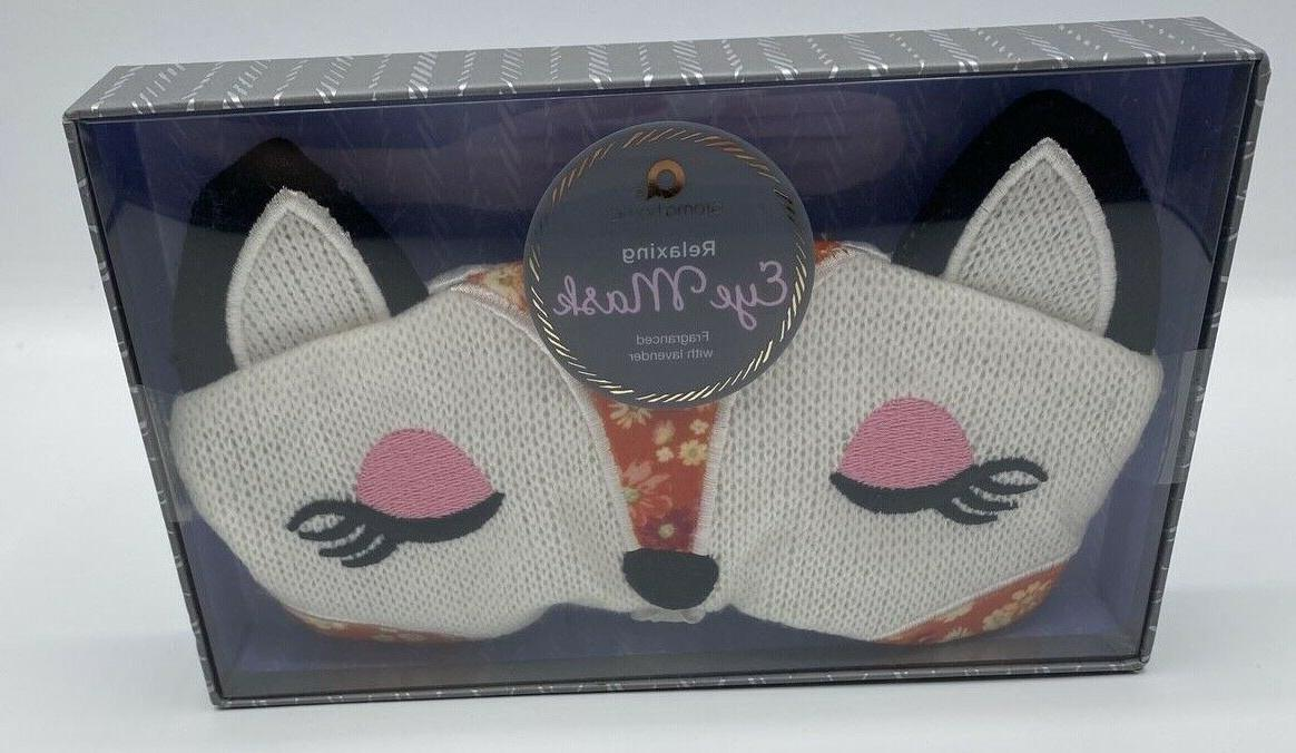 AROMA HOME Sleep Fox Knit Eye Mask Fragranced Relaxing Laven