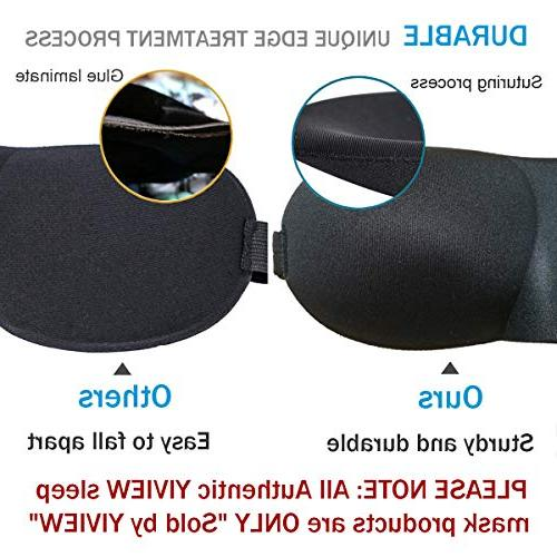 YIVIEW Sleep of 3, Lightweight Comfortable Soft 3D Contoured Eye for Travel, Shift Work, Black/Red/Purple