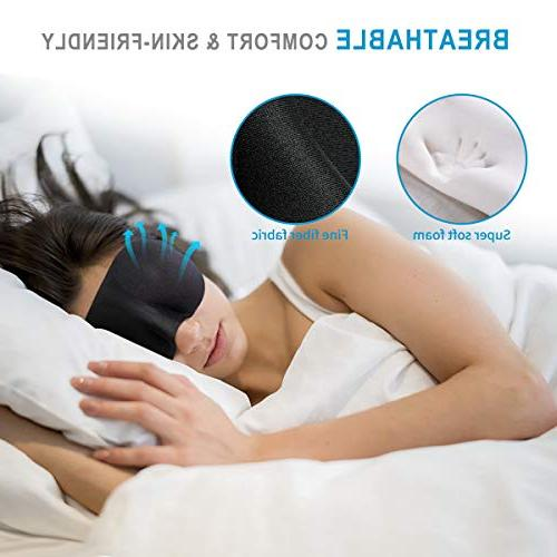 YIVIEW of & Comfortable 3D for Sleeping, Travel, Work, Naps, Blindfold Eyeshade Black/Red/Purple