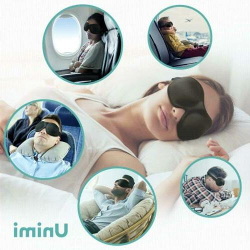 Unimi Sleep Mask Woman and Contoured Eye Mask Your Eyeballs, Create Total Darkness -Black