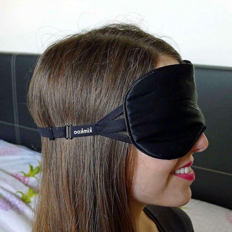 Kimkoo Sleep Mask Mask-Soft Silk Eye for Sleeping Strap