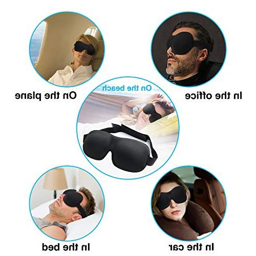 Sleep for Woman & Man, BearMoo Countered Sleeping Blindfold, Supper Smooth Light Mask Traveling