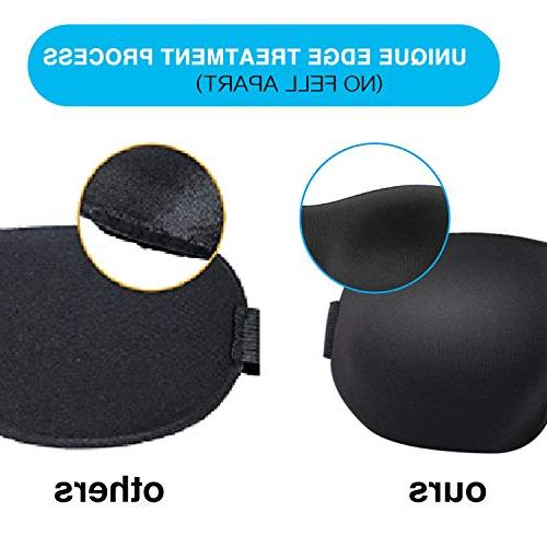 Sleep & Man, BearMoo Countered Sleeping Innovative Blocking Design Blindfold, Supper Smooth Traveling