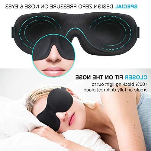 Sleep & BearMoo Countered Innovative Light Blindfold, Supper Smooth and Light Mask for Traveling