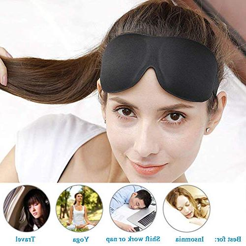 3 Pack Sleep Super Soft, Lightweight Comfortable 3D Eye for Airplane, Shift Best Night for