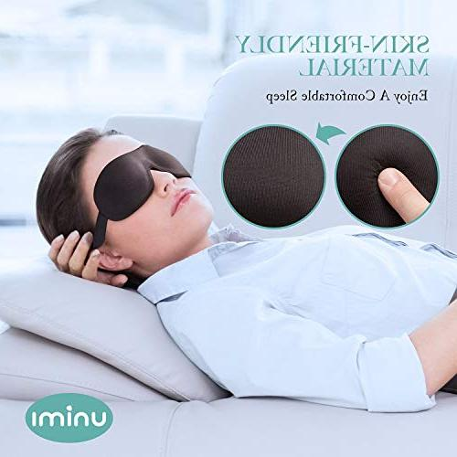 Unimi Sleep Woman and Man, Upgraded Contoured 3D Eye Cover, Comfortable Mask No Pressure Your Eyeballs, Darkness
