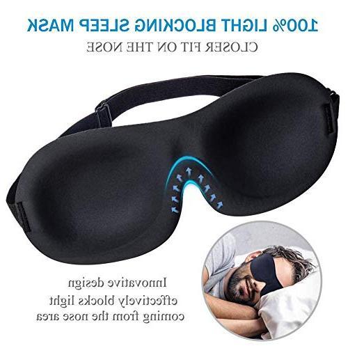 3 Pack Mask, Super Lightweight Comfortable 3D for Sleeping, Shift Best Night Blindfold Eyeshade for Men