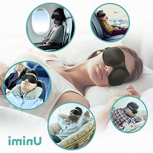 Unimi Sleep for Woman Man, Contoured Eye Comfortable Mask Pressure On Your Create Total Darkness -Black