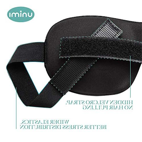 Unimi Mask for Woman and Contoured Eye Mask Eye Cover, Sleeping Mask Pressure On Darkness -Black