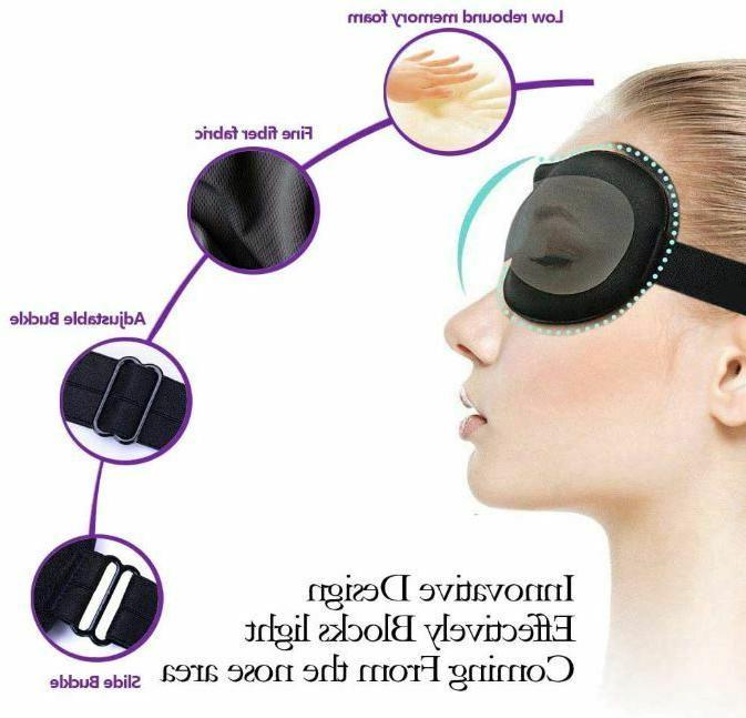 Sleeping 3D Contoured Sleep for Men Blindfold Eyemask
