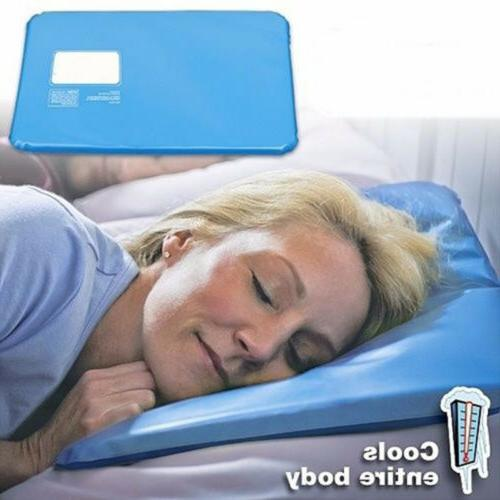 2x Cooling Insert Pad Mat Aid Sleeping Therapy Relax Muscle
