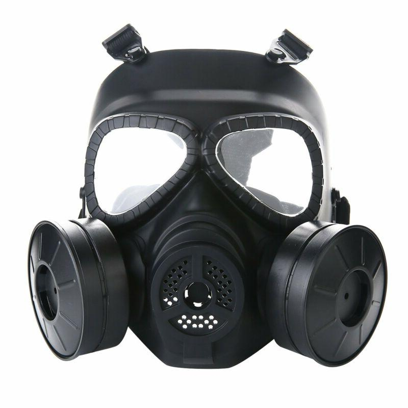 VILONG Tactical Airsoft Paintball Full Face Mask, Black