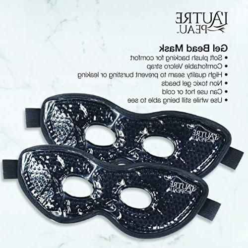 Therapeutic Spa Eye Mask or Cold Reusable Packs - Therapy for Puffy Eyes, Dark Headaches, - Pack
