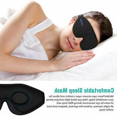 3D Eye Travel Sleep Memory Eyepatch Shade Sleeping Blindfold US