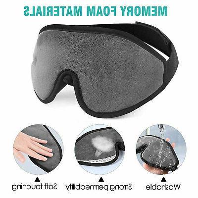 3D Eye Mask Travel Sleep Memory Eyepatch Shade US