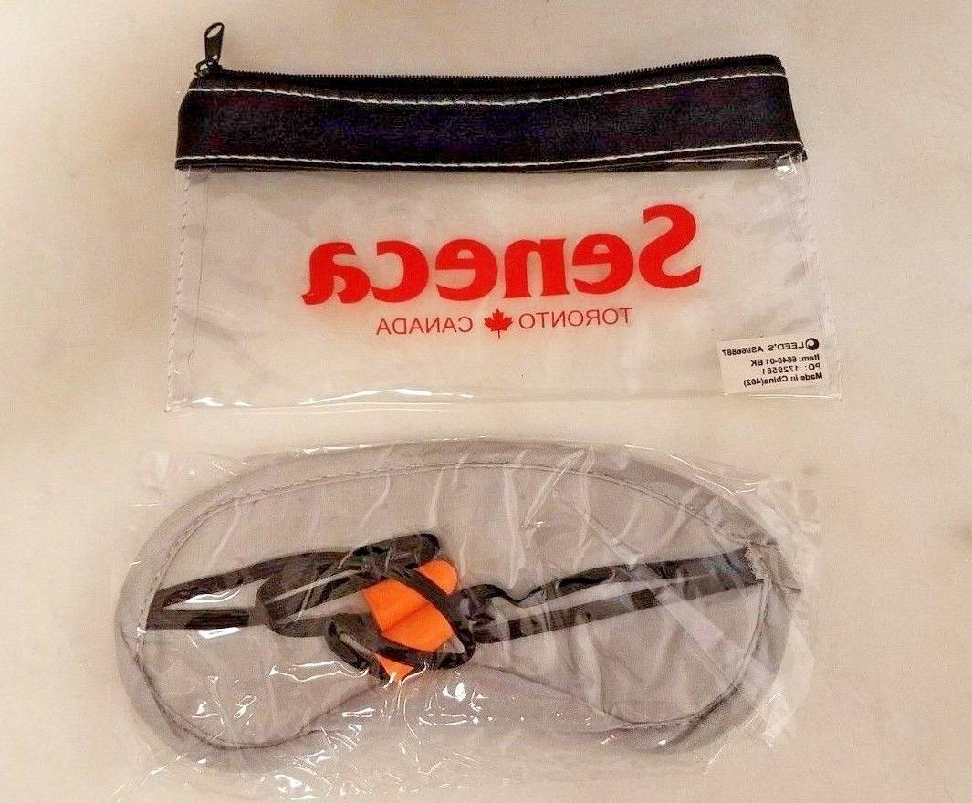 Travel Sleep Combo Eye Mask Ear Plugs Carry Plane Car Train