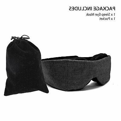 Travel Mask 3D Memory Shade Cover Sleeping Blindfold NEW