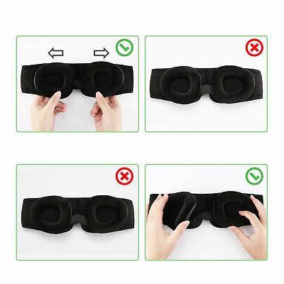 Travel Sleep 3D Memory Foam Shade Cover Sleeping Blindfold NEW