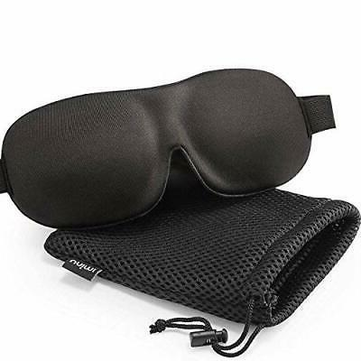 Sleep Mask for Woman and Man, Upgraded Contoured 3D Eye Mask