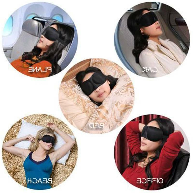 Unisex Blindfold 3D Eye Travel Sleep Shade