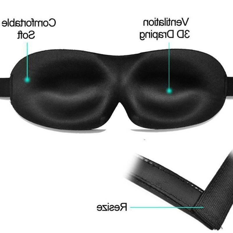 Unisex Blindfold 3D Travel Sleep Rest Shade Cover